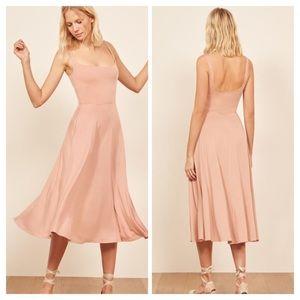 Reformation Light Pink Mary Maxi Dress SzSm